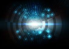 De abstracte achtergrond van de Wifitelecommunicatie, digitale curcuittechnologie Stock Foto's
