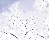 De abstracte achtergrond van de winterbomen Stock Afbeeldingen