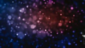De abstracte achtergrond van defocused lichten, 3d illustratie Stock Afbeelding