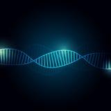 De Abstracte achtergrond van DNA met exemplaarruimte voor tekst, futuristisch creatief ontwerp, vectorillustratie Royalty-vrije Stock Foto
