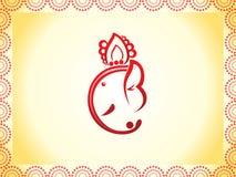 De abstracte achtergrond van ganeshachaturthi Stock Fotografie