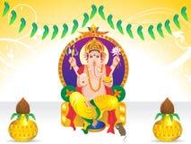 De abstracte achtergrond van ganeshachaturthi Stock Foto's