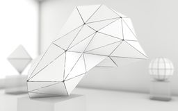 De abstracte achtergrond van grayscale geometrische vormen royalty-vrije illustratie