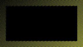 De abstracte achtergrond van grensduotone Hypnose geel halftone psychedelisch art. Het element van het ontwerpkader stock illustratie