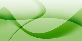 De abstracte achtergrond van de groen lichtgolf Stock Afbeelding