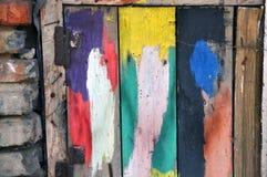 De abstracte achtergrond van de grunge houten textuur Raad met verf wordt gesmeerd die royalty-vrije stock afbeeldingen
