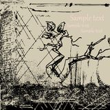 De abstracte achtergrond van Grunge met boomtak royalty-vrije illustratie