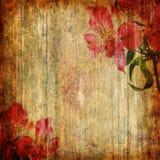 De abstracte achtergrond van Grunge met orchidee Royalty-vrije Stock Afbeeldingen