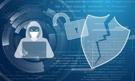 De abstracte achtergrond van de hakkeraanval Vector Illustratie