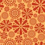 De abstracte achtergrond van het bloem naadloze vuurwerk Stock Afbeelding