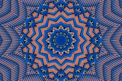 De abstracte achtergrond van het caleidoscooppatroon Rond patroon Architecturale abstracte fractal caleidoscoopachtergrond Abstra Stock Foto