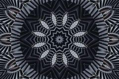 De abstracte achtergrond van het caleidoscooppatroon Rond patroon Architecturale abstracte fractal caleidoscoopachtergrond Abstra Royalty-vrije Stock Fotografie