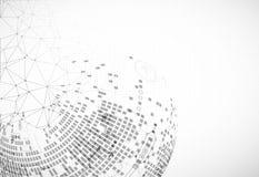 De abstracte achtergrond van het communicatietechnologie lichte ontwerp Stock Foto