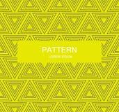 De abstracte achtergrond van het driehoeks naadloze patroon Stock Afbeeldingen