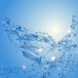 De abstracte achtergrond van het driehoeksnetwerk  Royalty-vrije Stock Afbeelding