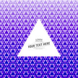 De abstracte achtergrond van het driehoekspatroon met tekstvakje ontwerp stock illustratie