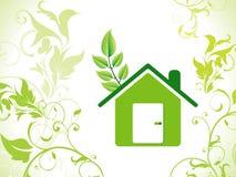 De abstracte achtergrond van het eco groene huis Stock Foto