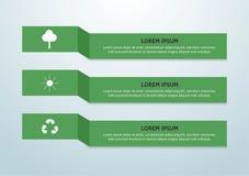 De abstracte achtergrond van het ecologieconcept Vector infographic illustratie stock illustratie