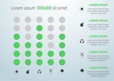 De abstracte achtergrond van het ecologieconcept Vector infographic illustratie vector illustratie