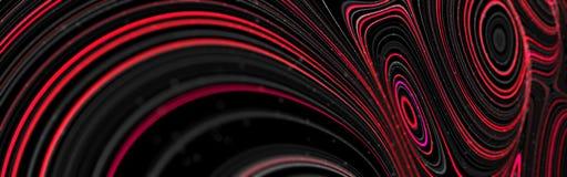 De abstracte achtergrond van het golfpatroon Rood en Zwarte stock afbeelding