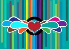 De abstracte achtergrond van het hart Stock Foto's