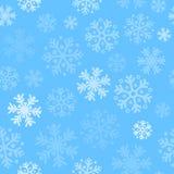 De abstracte achtergrond van het Kerstmis naadloze patroon met sneeuwvlokken Stock Foto's