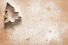 De abstracte achtergrond van het Kerstmisvoedsel met koekjes stock afbeelding