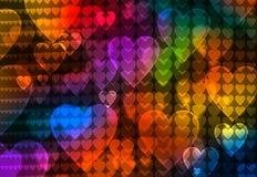 De abstracte achtergrond van het kleurenhart Royalty-vrije Stock Afbeeldingen