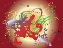 De abstracte achtergrond van het liefdehart Royalty-vrije Stock Afbeelding