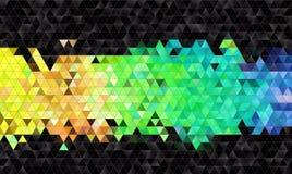 De abstracte achtergrond van het mozaïek Stock Afbeelding