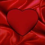 De abstracte achtergrond van het mozaïek gloeiende hart. EPS 8 Royalty-vrije Stock Afbeelding