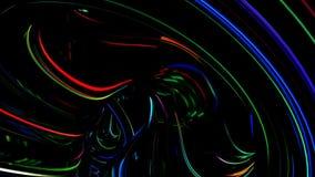 De abstracte achtergrond van het neon stock footage