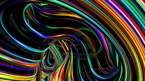 De abstracte achtergrond van het neon stock video