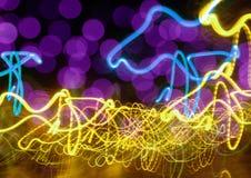 De abstracte achtergrond van het neon Stock Afbeelding