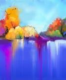De abstracte achtergrond van het olieverfschilderijlandschap