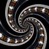De abstracte achtergrond van het patroon spiraalvormige Kogellager Dragende fractal van de productietechnologie abstracte patroon Stock Foto's
