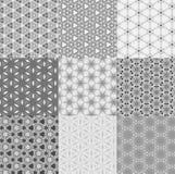 De abstracte achtergrond van het patroonontwerp van geometrische vorm Stock Foto's