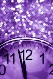 De abstracte achtergrond van het purpere Nieuwjaar Stock Foto's