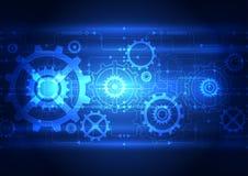 De abstracte achtergrond van het technologie digitale concept, vectorillustratie