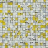 De abstracte achtergrond van het tegelmozaïek in geel wit stock illustratie
