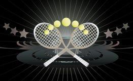 De abstracte achtergrond van het tennis. Royalty-vrije Stock Afbeelding