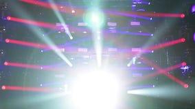 De abstracte achtergrond van het verlichtingsstadium stock video