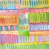 De abstracte achtergrond van het waterverfhand geschilderde ornament Stock Afbeelding