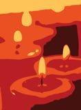 De abstracte Achtergrond van Kaarsen Vector Illustratie