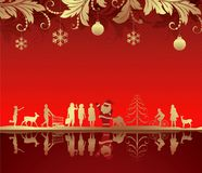 De abstracte Achtergrond van Kerstmis Royalty-vrije Stock Afbeeldingen