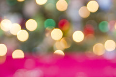 De Abstracte Achtergrond van Kerstmislichten Stock Afbeelding
