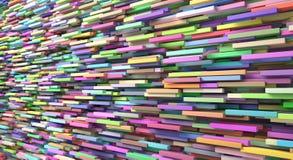 De abstracte achtergrond van kleurde vele kubussen vector illustratie