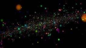 De abstracte achtergrond van de kleurenmelkweg Ruimteconcepten 3D illustratie stock foto