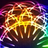 De abstracte Achtergrond van Lichten Vector illustratie Stock Foto