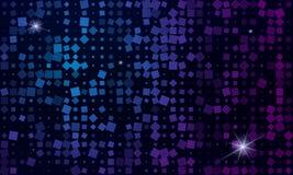 De abstracte achtergrond is van multi-colored vierkanten en sterren Stock Afbeelding